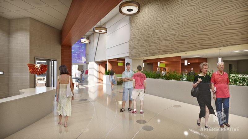 After5creative Portfolio Hospital Tower Interior Rendering