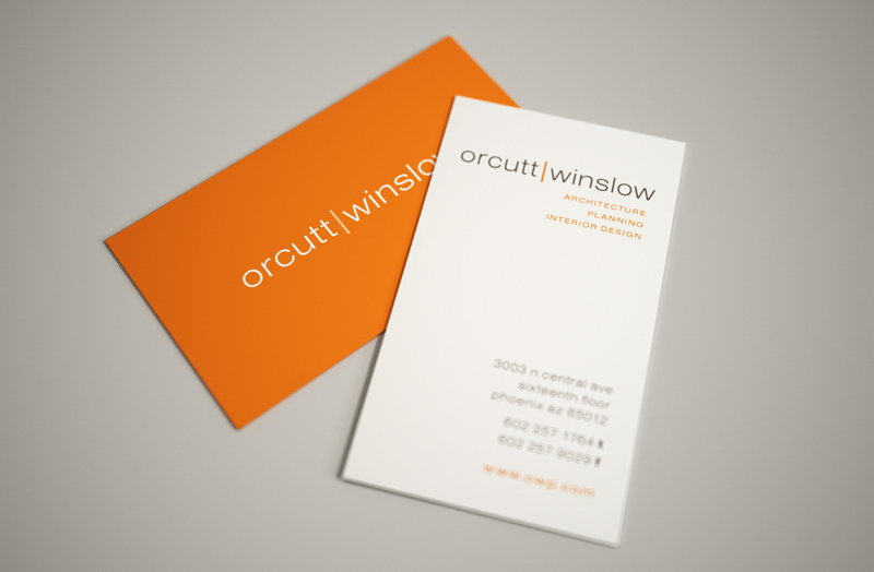 Orcutt Winslow Business Card Design