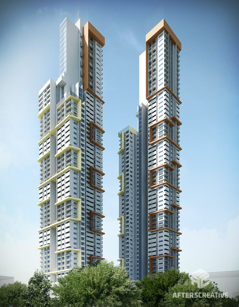 Exterior rendering archives after5creative graphic Modern residential towers