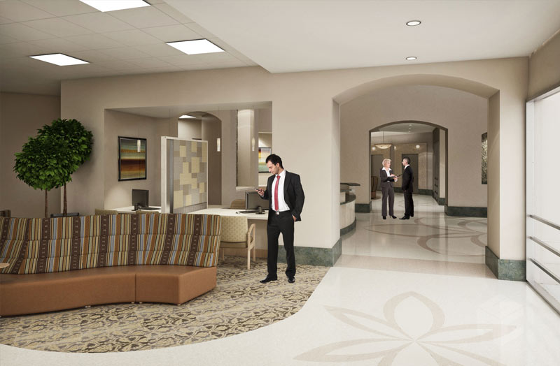 heart center interior rendering